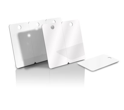 Blank White Key Fob Tag Cards