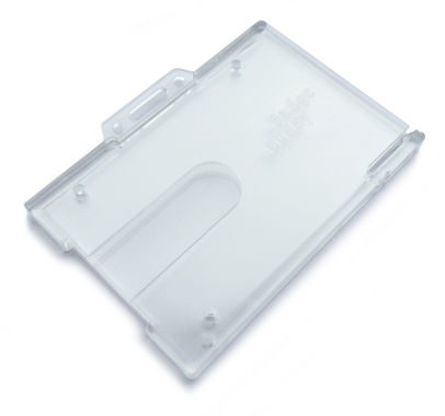 Enclosed Badge Buddy ID Card Holder
