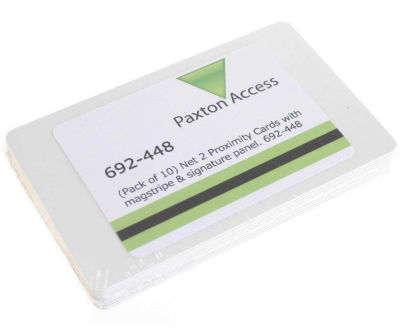 Paxton 692-448 Net2 Proximity ISO Cards with Unencoded Magnetic Stripe & Signature Panel (Pack of 10)
