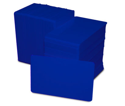 Royal Blue Blank Plastic PVC CR80 Card