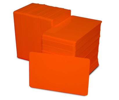 Orange Blank Plastic PVC CR80 Card