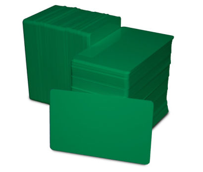 Green Blank Plastic PVC CR80 Card