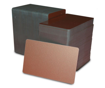 Metallic Copper Blank Plastic PVC CR80 Card
