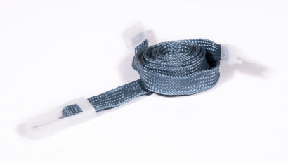 Grey Breakaway 10mm Neck Lanyard with Plastic Slide Hook