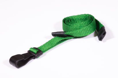 Light Green 10MM Lanyards With Breakaway Clip & Plastic J-Clip