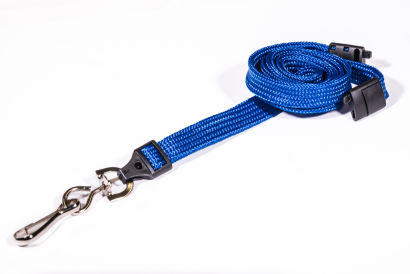 Royal Blue 10mm Breakaway Lanyard with Metal Swivel Hook