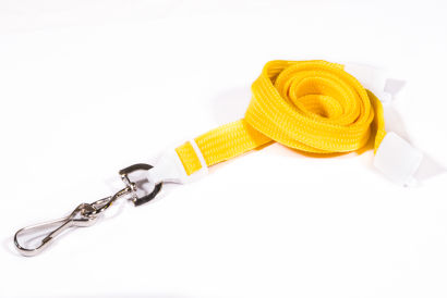 Yellow 10mm Breakaway Lanyard with Metal Swivel Hook