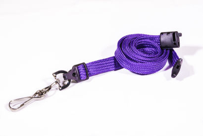 Purple 10mm Breakaway Lanyard with Metal Swivel Hook
