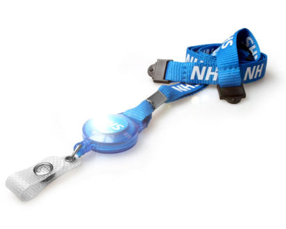NHS Staff Lanyards with Double Breakaway & Integrated Card Reel