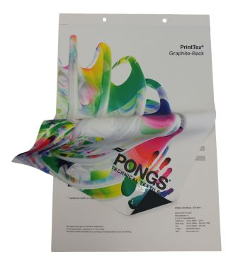 PONGS Graphite-Back Blockout Polyester Textile