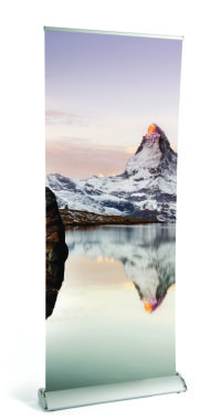 Matterhorn2 Textured Roll-up Banner 210mic PP/PET