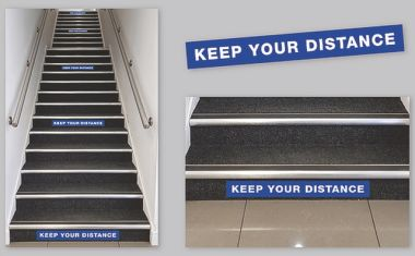 600mm x 100mm Anti-Slip Distancing Staircase Stickers