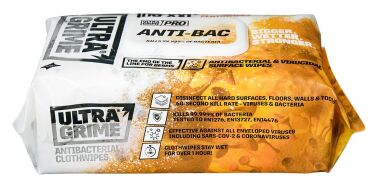 Ultragrime Pro Anti-Bac XXL Surface Wipes