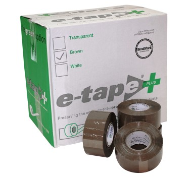 E-tape Plus Packaging Tape 50mm  *FREE DISPENSER WITH FIRST CARTON OF E-TAPE*