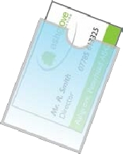 Self-Adhesive Business Card Pockets