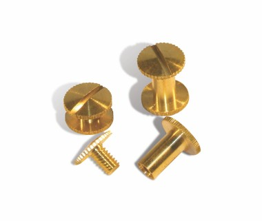 Binding Screws - Serrated Edge Brass