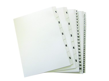A-Line Tabbed Dividers - Numbered A4