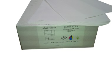 Digitak Silk Sheet Labels White A4 Permanent/Removable