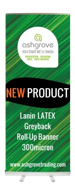 Lanin Solvent/Latex Textured Greyback Roll-Up Banner 300 micron