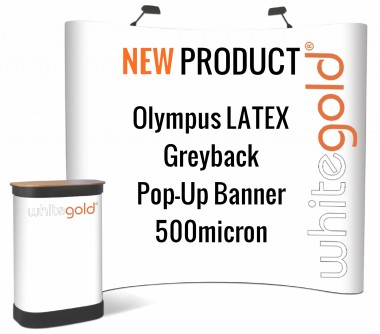 Olympus Solvent/Latex Textured Greyback Pop-Up Banner 500 micron
