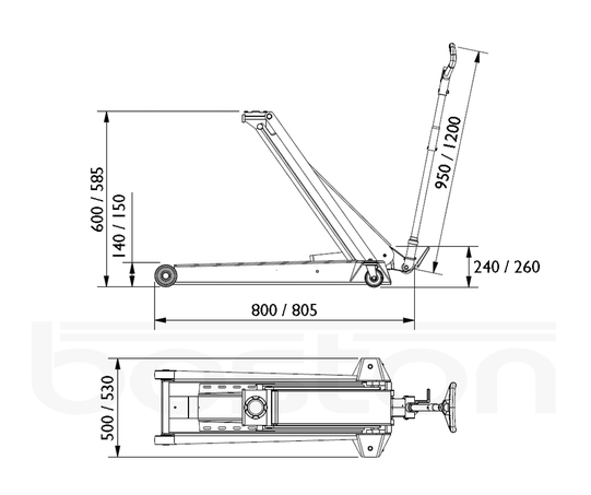 4.0T Mobile Trolley Jack