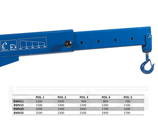 2.5T Heavy Duty Hydraulic Workshop Crane