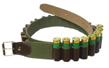 Canvas and Leather Cartridge Belt 12g