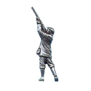 Pewter Pin Badge - Shooting Man