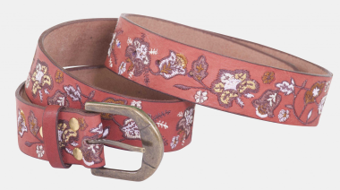 Toggi Pinewood Ladies Floral Embroidered Leather Belt