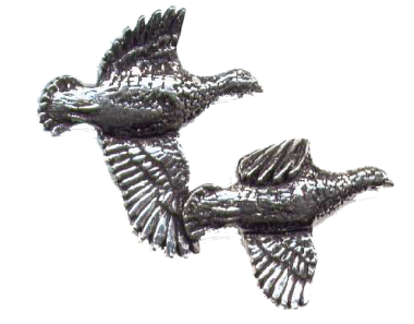 Pewter Pin Badge - Partridge