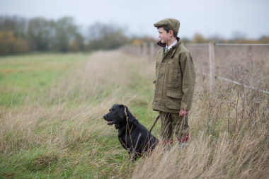 Alan Paine Rutland Kids Tweed Coat (Lichen)