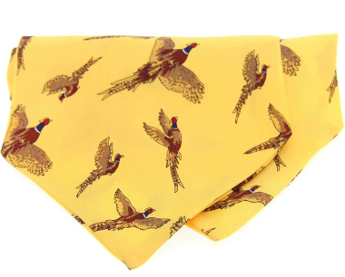 Country Silk Cravat - Pheasants
