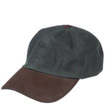 Hoggs of Fife Waxed Baseball Cap - Olive