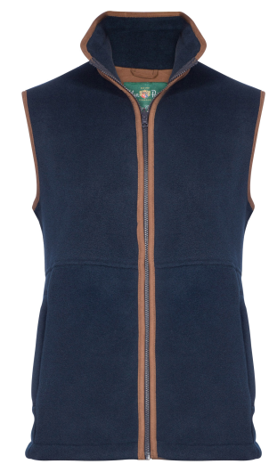 Alan Paine Aylsham Kids Fleece Waistcoat (Dark Navy)