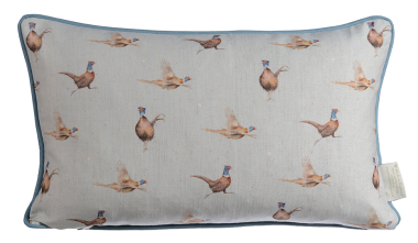 Wrendale Pheasant and Fern Reversible Cushion