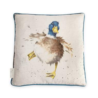 A Waddle & a Quack Duck Cushion by Wrendale Designs