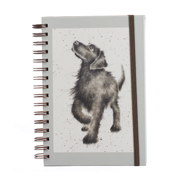 Black Labrador Spiral A5 Notepad by Wrendale Designs