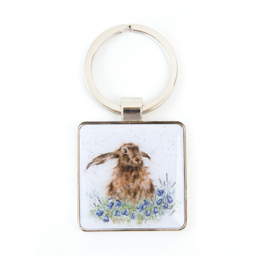 """Bright Eyes"" Hare Keyring by Wrendale Designs"