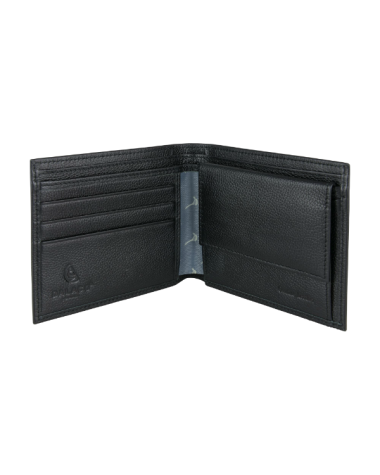 Leather Wallet with Pheasant Lining - Black
