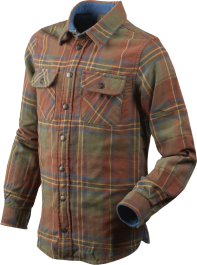 Seeland Nolan Kids Shirt (Sequoia Rust Check)
