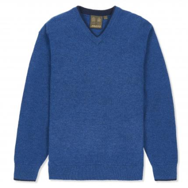 Musto Shooting V-Neck Knit (Blue Lake) - M