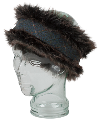 Hoggs of Fife Sherborne Ladies Faux Fur/Tweed Headband (one size)