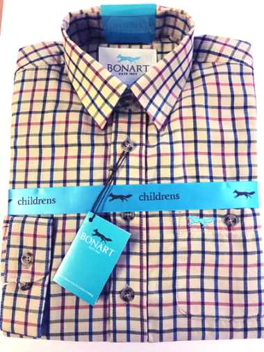 Bonart Kids Cambridge Shirt (Blue)