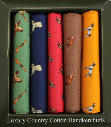 Cotton Country Themed Boxed Handkerchiefs