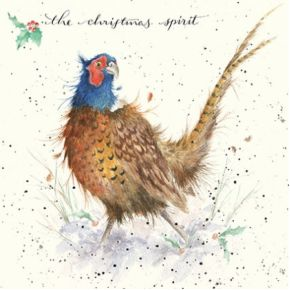 'The Christmas Spirit'  Christmas Card by Wrendale