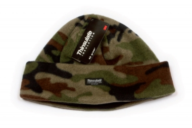 Kids Camo Fleece Thinsulate Hat 53cm