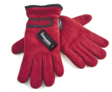 Ladies Fleece Gloves - Red
