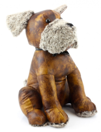 Faux Leather Doggy Doorstop