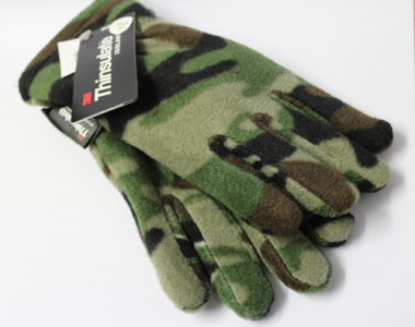 Kids Camo Fleece Thinsulate Gloves (Aged 7-10)