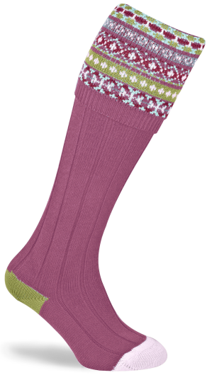 Pennine Fairisle Ladies Shooting Socks - SIZE 3-5